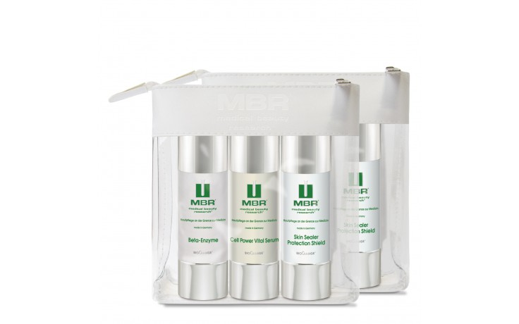MBR Travel Set - Beta-Enzyme, Cell Power Vital Serum, Skin Sealer Protection Shield 3x30 ml