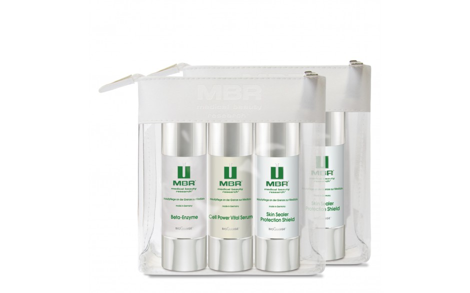 MBR Travel Set - Beta-Enzyme Exfoliator,Cell Power Vital Serum, Skin Sealer Protection Shield 3 x 50 ml