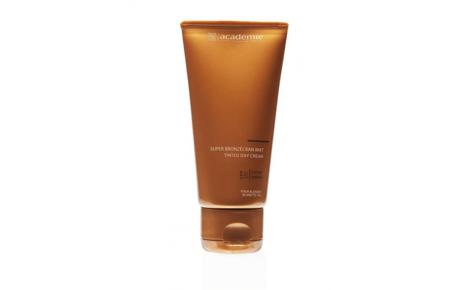 Academie Super Bronzécran Mat Visage Faible Protection SPF6