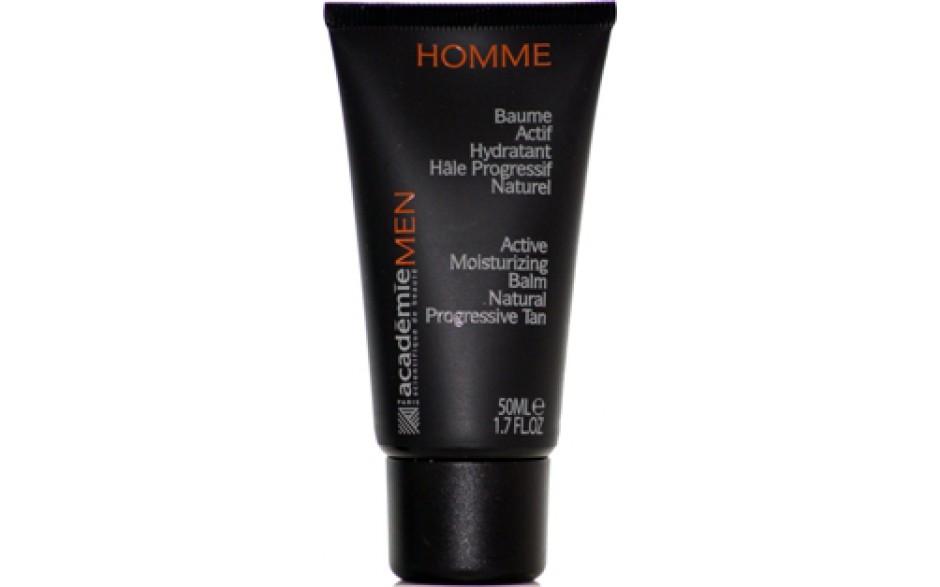 Academie Men Baume Actif Hydratant Hâle Progressif Naturel / Active  Moisterurizing Balm Natural Progressive Tan