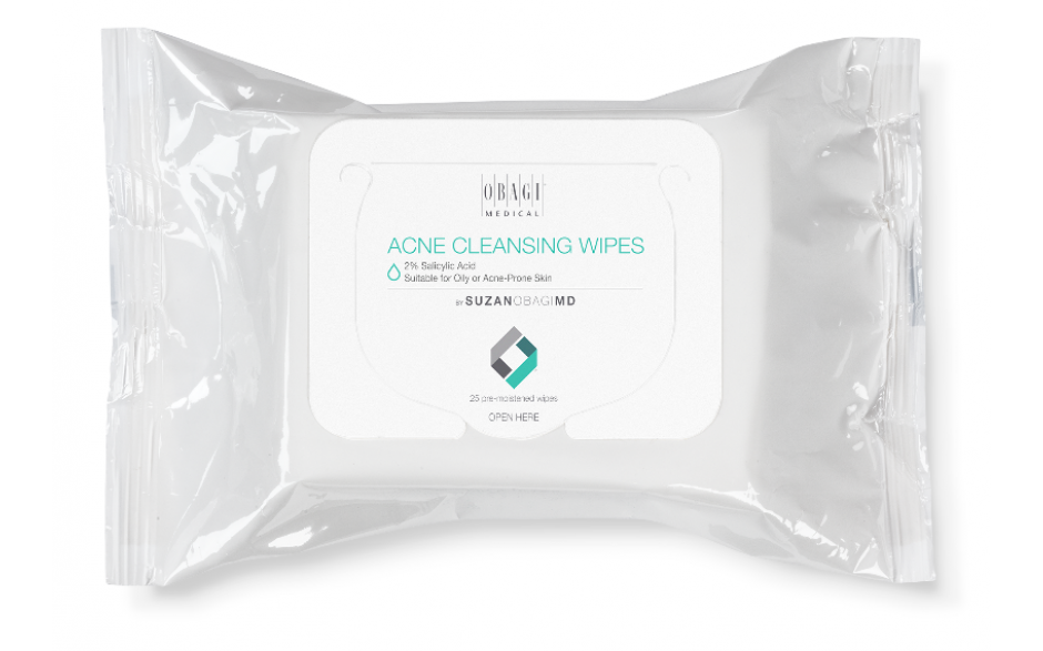 Obagi Medical Suzan Obagi MD Cleansing Wipes Oily or Acne Prone Skin 25's