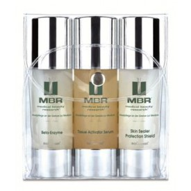 MBR Travel Set - Beta-Enzyme Exfoliator,Tissue Acivator Serum, Skin Sealer Protection Shield  3 x 50 ml