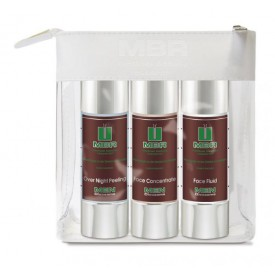 MBR Men Travel Set - Over Night Peeling, Face Concentrate, Face Fluid 3 x 50 ml